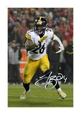 More details for le'veon bell (1) nfl pittsburgh steelers a4 signed poster. choice of frame.
