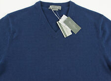 Men's DANIEL CREMIEUX Marine Blue V-Neck CASHMERE Sweater XL Extra Large NWT NEW