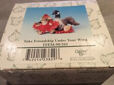 "Charming Tails ""Take Friendship Under Your Wing"" Figurine In Original Box - New"