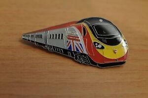"Virgin Trains Class 390 ""Business is Great"" Enamel Badge"
