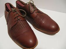 Vanishing Elephant Men's Size 13 Hipster Leather Woven Tobacco  Cap Toe