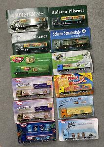 Lot of 12 European Advertising Semi Trucks - New