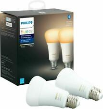 Philips Hue A19 White Ambiance Bluetooth LED Smart Bulbs 548560 (Two-Pack)