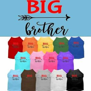 Big Brother Screen Print Pet Puppy Cat Dog Shirt