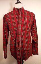 L.L. Beans Mens Red Plaid Lumberjack L/S Button Front Shirt Men's XL Extra Large