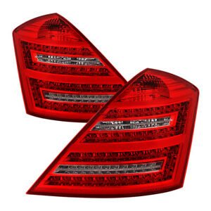 Mercedes-Benz 07-09 W221 S-Class Red LED Tail Lights S450 S500 S550 S600 S63 S65