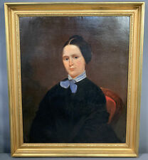 19thC Antique VICTORIAN Era LADY PORTRAIT Old MARYLAND ESTATE Oil PAINTING