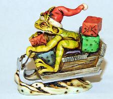 Harmony kingdom art Neil Eyre Designs Christmas Santa Tree Frog Sled wild Ride