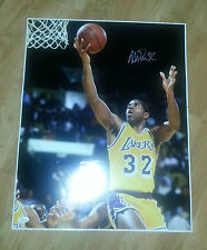 MAGIC JOHNSON 'LOS ANGELES LAKERS' HOF 2002 SIGNED 16X20 PICTURE *COA JSA AUTH 8