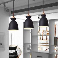 Kitchen Pendant Light Bar Wood Lamp Black Chandelier Lighting Room Ceiling Light