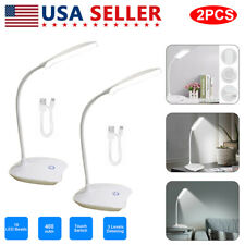 2PCS Dimmable LED Desk Bedside Reading Lamp Touch Sensor...