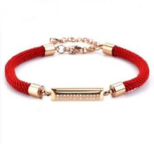 sale! Fashion Red String Women Stainless Steel Crystal ID Bracelet