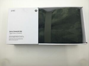 lululemon packable foldable yoga mat carry onwards mat camo green NWT