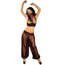 black BELLY DANCER  sexy womens  halloween costume M L