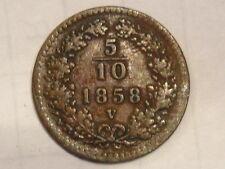 Occupazione austriaca 5/10 del 1858 venezia RARA