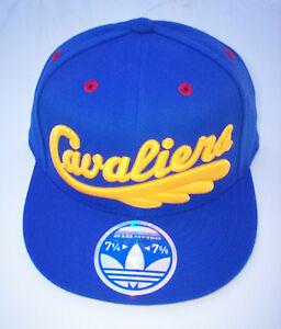 CLEVELAND CAVALIERS CAVS NBA LeBron ADIDAS Flat Bill StretchFit Hat Cap NWT L/XL