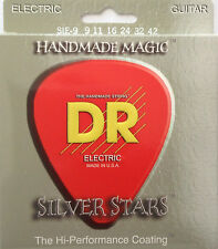 DR SIE-9 Extra Life Silver Stars Coated Guitar Strings 9-42 lite