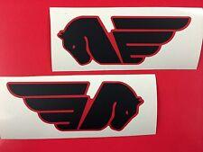 2 Adesivi Sticker BUELL Serbatoio Black & Red logo