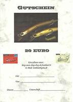 GUTSCHEIN / ANGELGUTSCHEIN im Wert von 50,00 € beliebig einlösbar bei TOMBAIT24