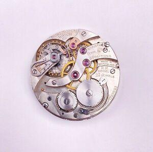 RARE 1900s Burlington Illinois 16s 21j Pocket Watch Swiss RR Model #1729521 OF
