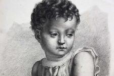 Aancien Disegno Dopo La Rinascimento Italiano Piccolo Gesù Cristo Redentore