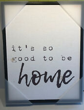 Stupell Home Décor  Its So Good to Be Home  Typography Black Wall Art, 11x14