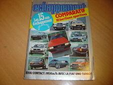 Echappement N°182 R 18 Turbo / BMW 318i / Guilietta 2.0 / 305 GT / Volvo 360 GLE