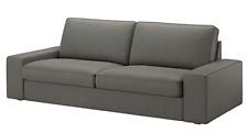 New IKEA KIVIK Sofa 3 Seat Cover Slipcover BORRED GRAY GREEN