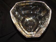 TIFFANY & Co  CRYSTAL MODERN 6 SIDES PANEL TRIANGULAR CONTEMPORARY  ART GLASS BO