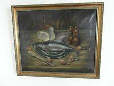 Pintura al óleo, Bodegón de pescado cena