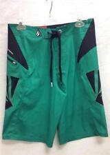 Volcom Youth V65 Pixelater Board Short Swim Suit Boardies Green Black Sz 30 NEW