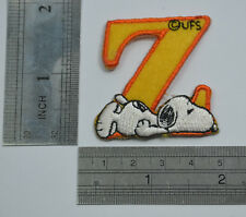 "LETTER Z SNOOPY ALPHABET 1 1/2"" 4cm Sew Iron on Cloth Patch Applique Embroidery"