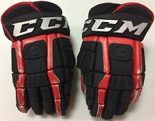 "CCM U+ CL Crazy Light 14"" Pro Stock Hockey Gloves Black Chicago Blackhawks 2949"