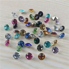 High quality 200pcs4mm Mix Crystal beads Point back Rhinestones Resin Chatons