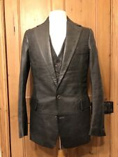 2001 Carol Christian Poell leather tailored jacket waistcoat vest sartoria CCP