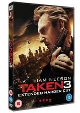 Taken 3 Extended Harder Cut DVD R2 PAL Liam Neeson Watched Once