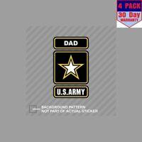 Army Dad Ranger U.S. Us U S Father 4 Stickers 4x4 Inch Sticker Decal