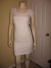 Jessica Simpson Women's White Eyelet, Scoop neckline,Sleeveless Dress Size 2