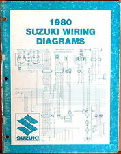 "SUZUKI SERVICE MANUAL 1980 WIRING DIAGRAMS ""T"" Model Motorcycles"