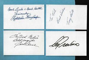 4 Signed Golf Legends 3X5 cards - LIGHTHORSE COOPER -SAM SNEAD - T BOLT -TREVINO