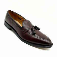 Allen Edmonds Grayson I blood Burgundy Leather Tassel Loafers Men's Size - 10 A.