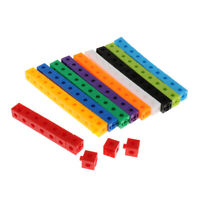 100 Pieces Early Education Toddlers Baby Maths Link Cubes Skills Teaching