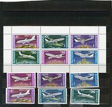 BULGARIE 1990 Sc#3557-3562a aviation ensemble & FEUILLE DE 6 Timbres MNH