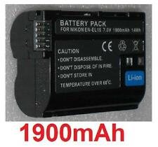 Battery 1900mAh type EN-EL15 ENEL15 For Nikon D500
