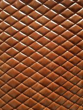 """Vinyl faux leather saddle distressed diamond Quilted fabric w/ 3/8"""" Foam back"""