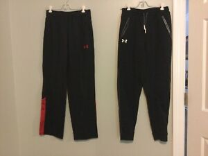 Lot Of Two Boys Under Armour Loose Black Sweatpants Youth Sz YLG Large