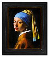 Jan Vermeer-Das Mädchen mit dem Perlenohrring-Große Meister-68x58cm Ölgemälde