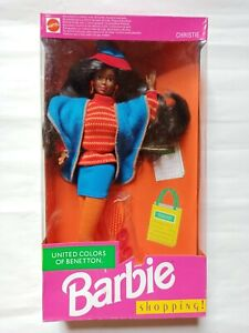 Barbie Vintage, United colors of Benetton, Christie Shopping, 1991, NRFB.