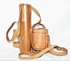More details for ww1 leather telescope case and one other officers field gear