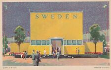 (G) 1933 Chicago World's Fair - Sweden Building - Exterior and Grounds